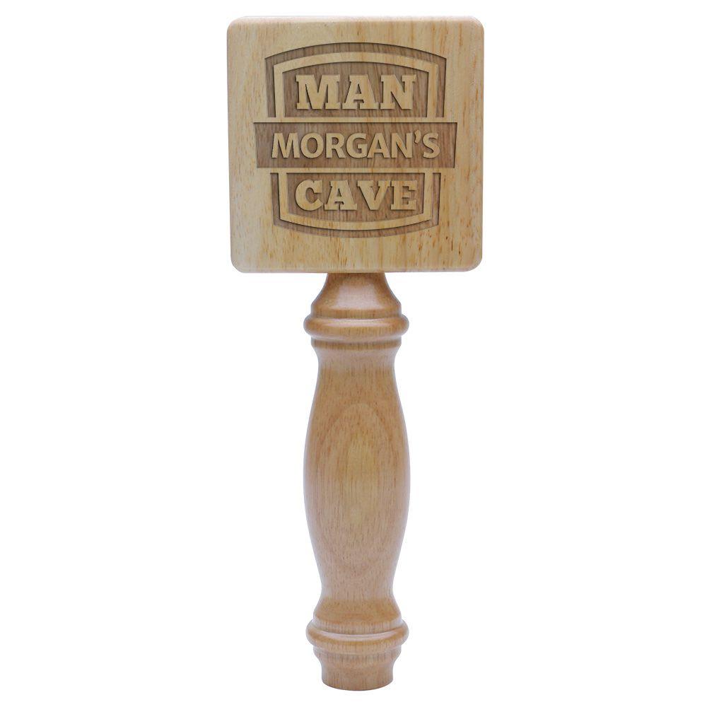 Man Cave Natural Wood Custom Tap Handle