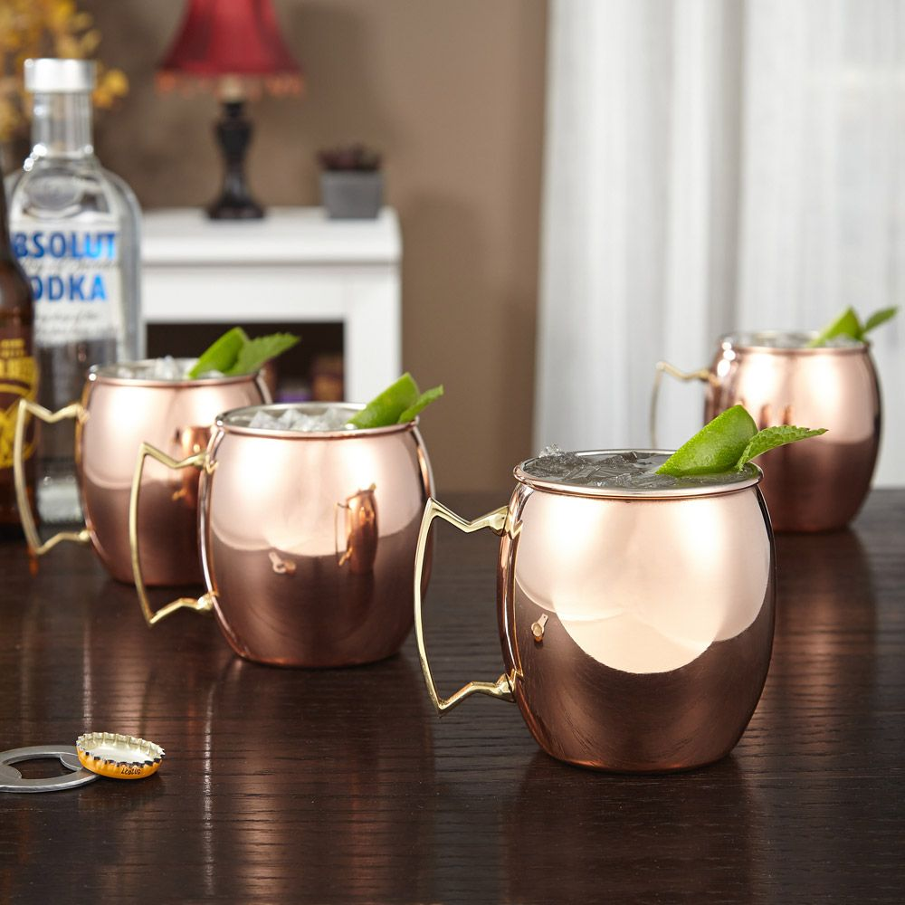Copper Moscow Mule Mug, Set of 4
