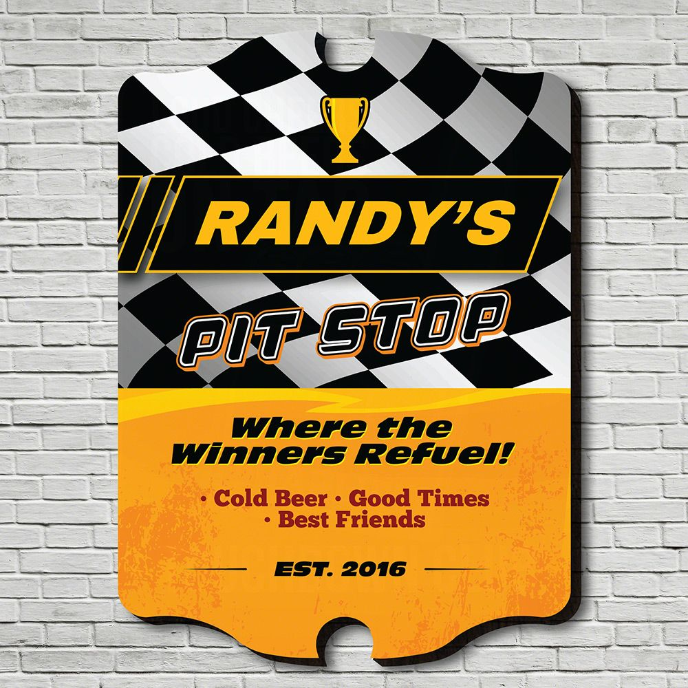 Winners Refuel Personalized Sign