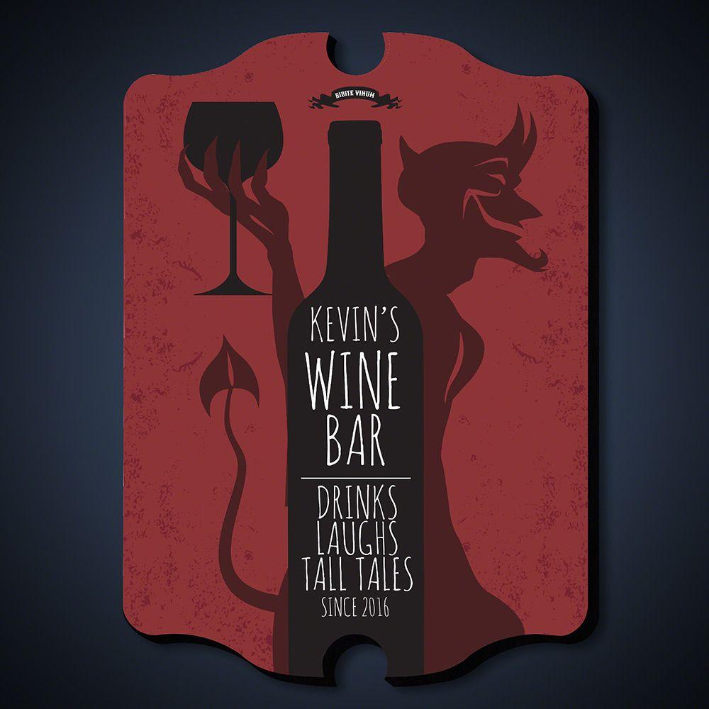 Devilish Times Custom Bar Sign