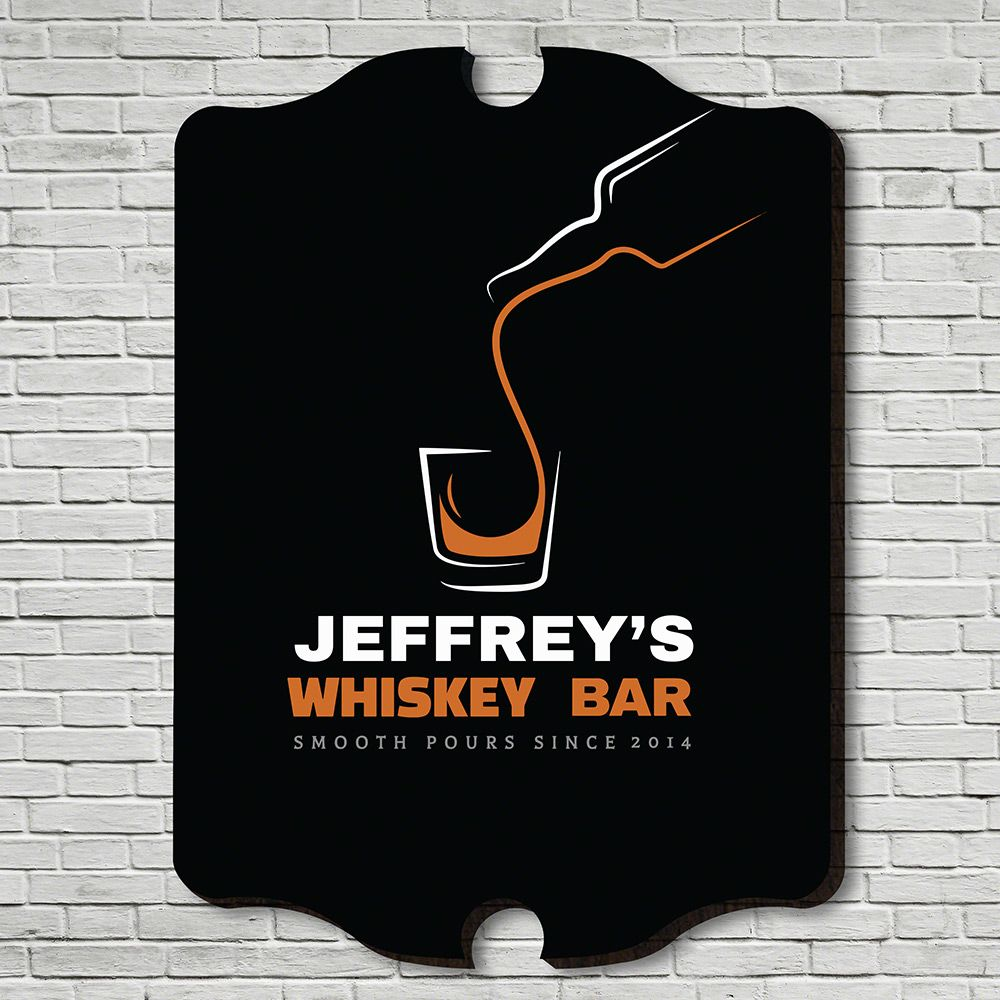 Smooth Pour Personalized Bar Sign