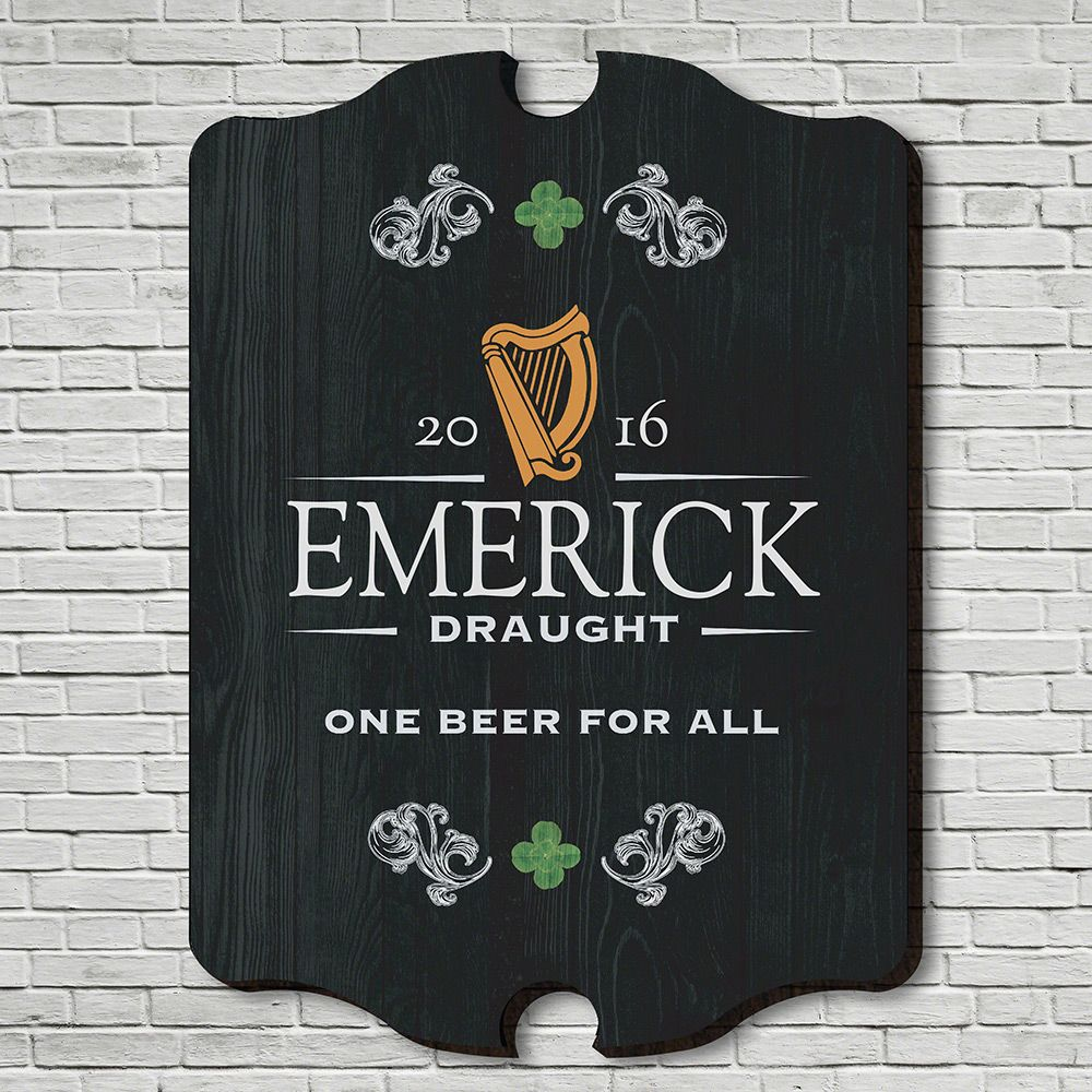 Irish Beer Personalized Bar Sign
