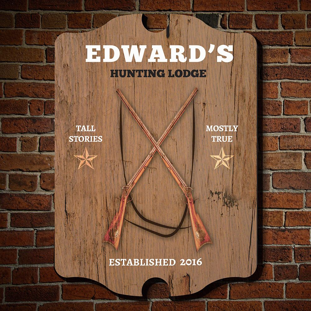 Hunting Lodge Personalized Man Cave Sign