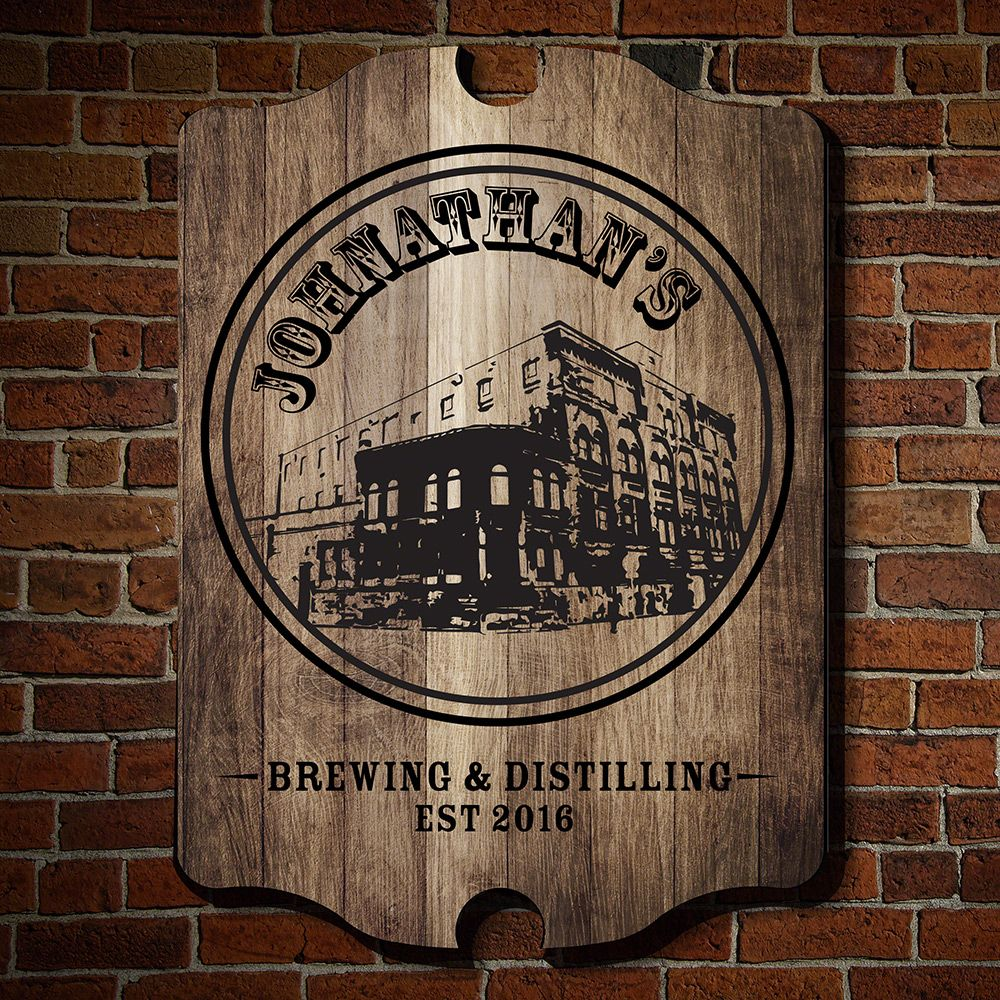 Brew and Distill Personalized Wall Sign