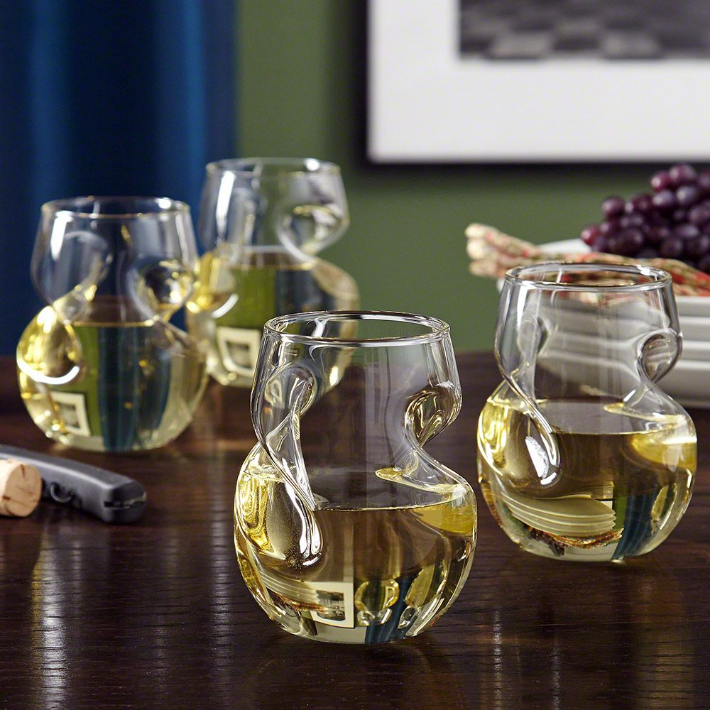 Modena Sculpted Wine Glasses, Set of 4