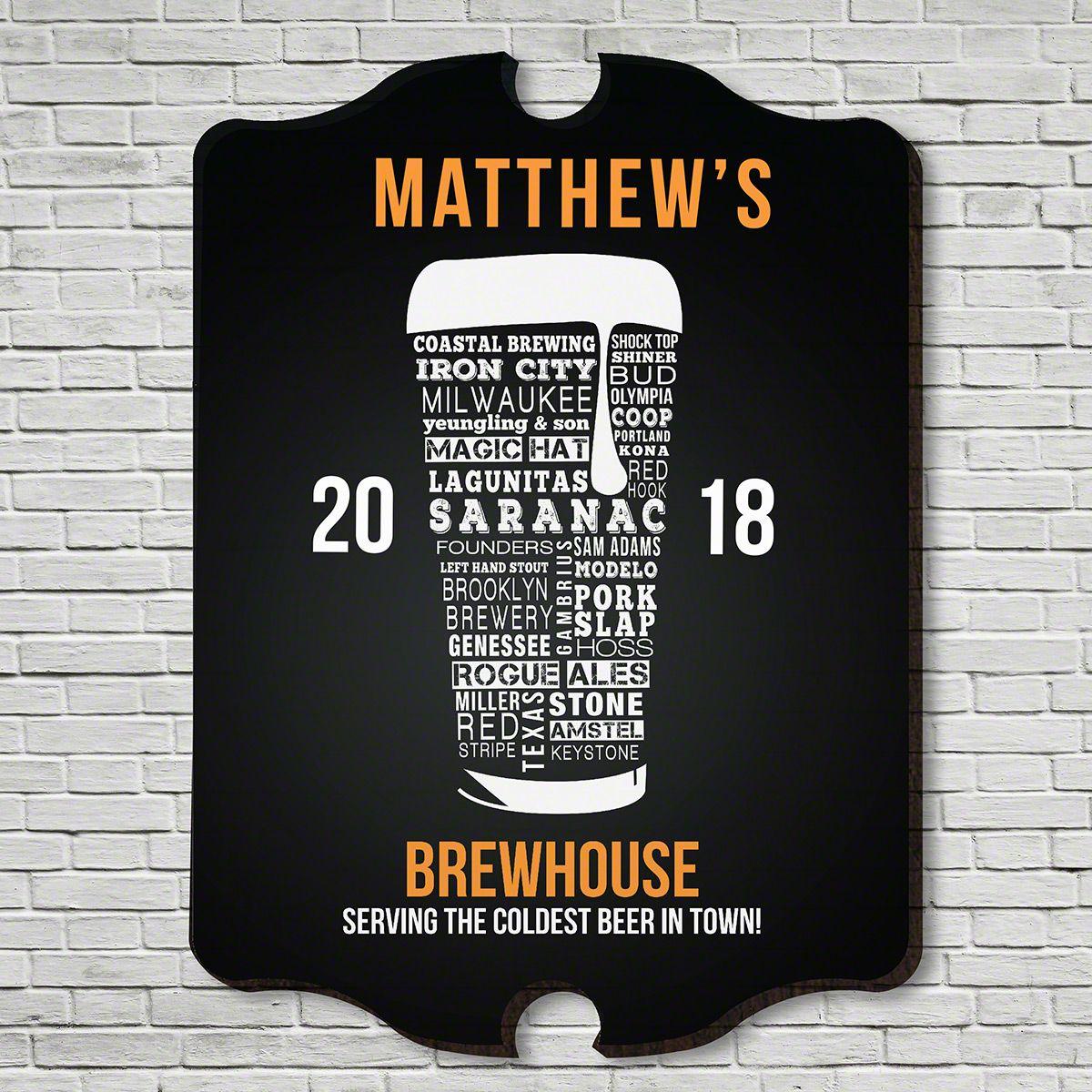 Modern Craft Beer Custom Bar Sign