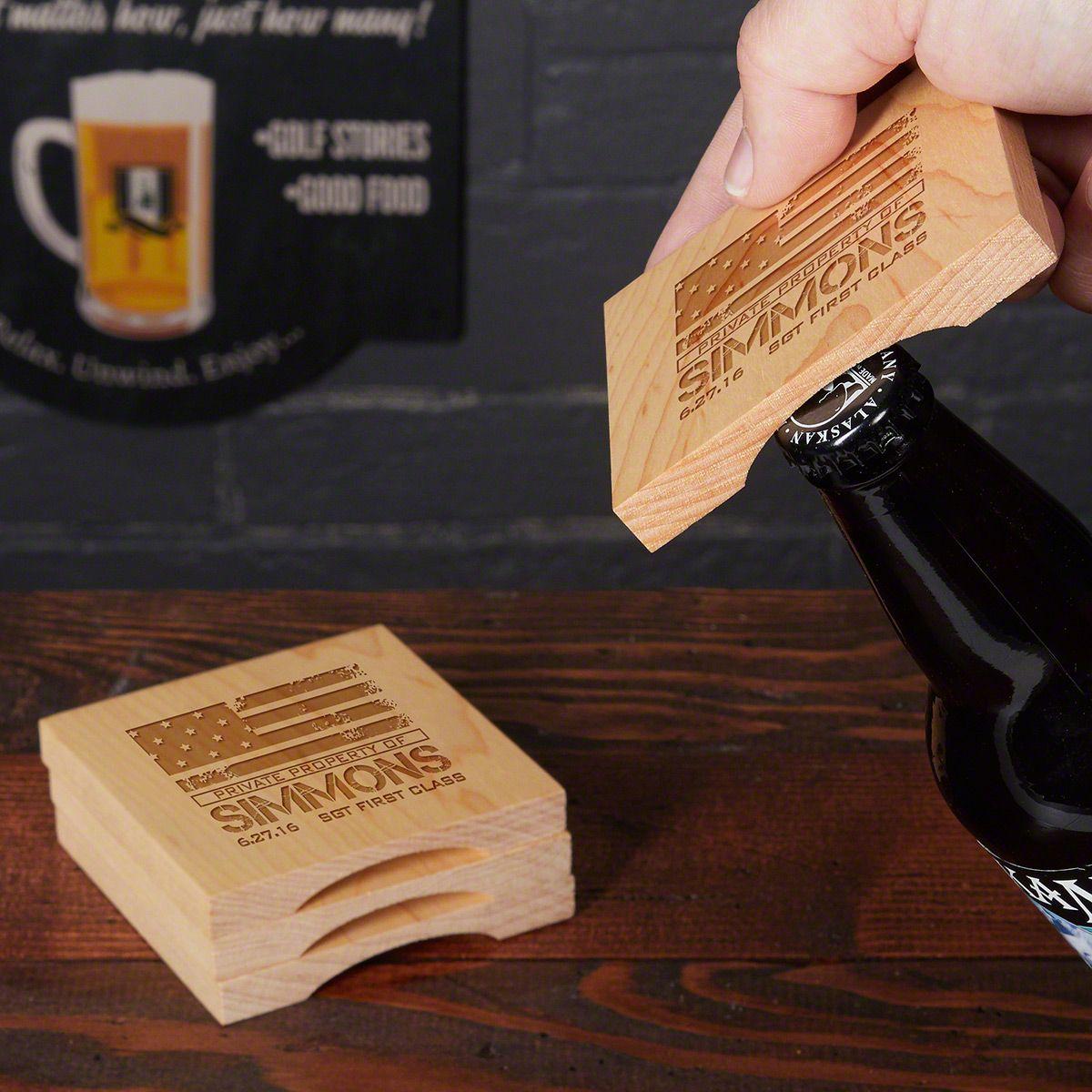 American Heroes Beer Opening Coasters, Set of 4