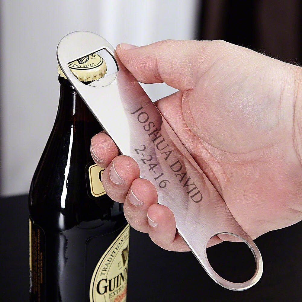 Bartenders Pal Stainless Steel Personalized Bottle Opener