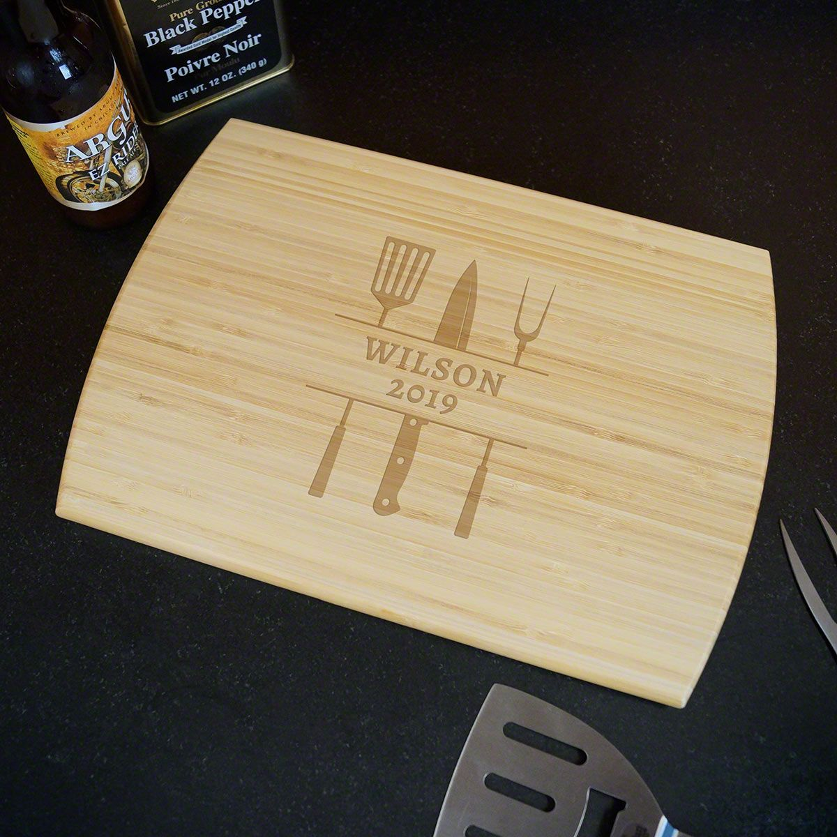 Tools of the Trade Personalized Cutting Board for Grilling