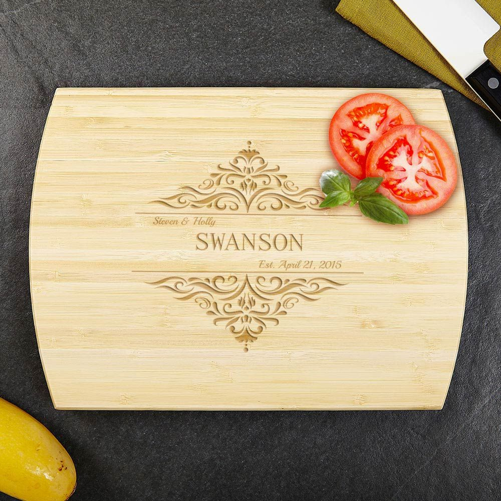 Family Home Personalized Bamboo Cutting Board 8x11