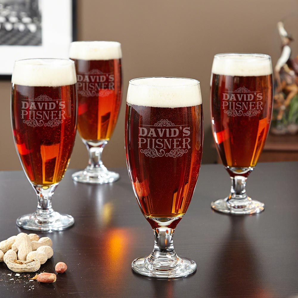 Cassidy Personalized Beer Pilsner Set