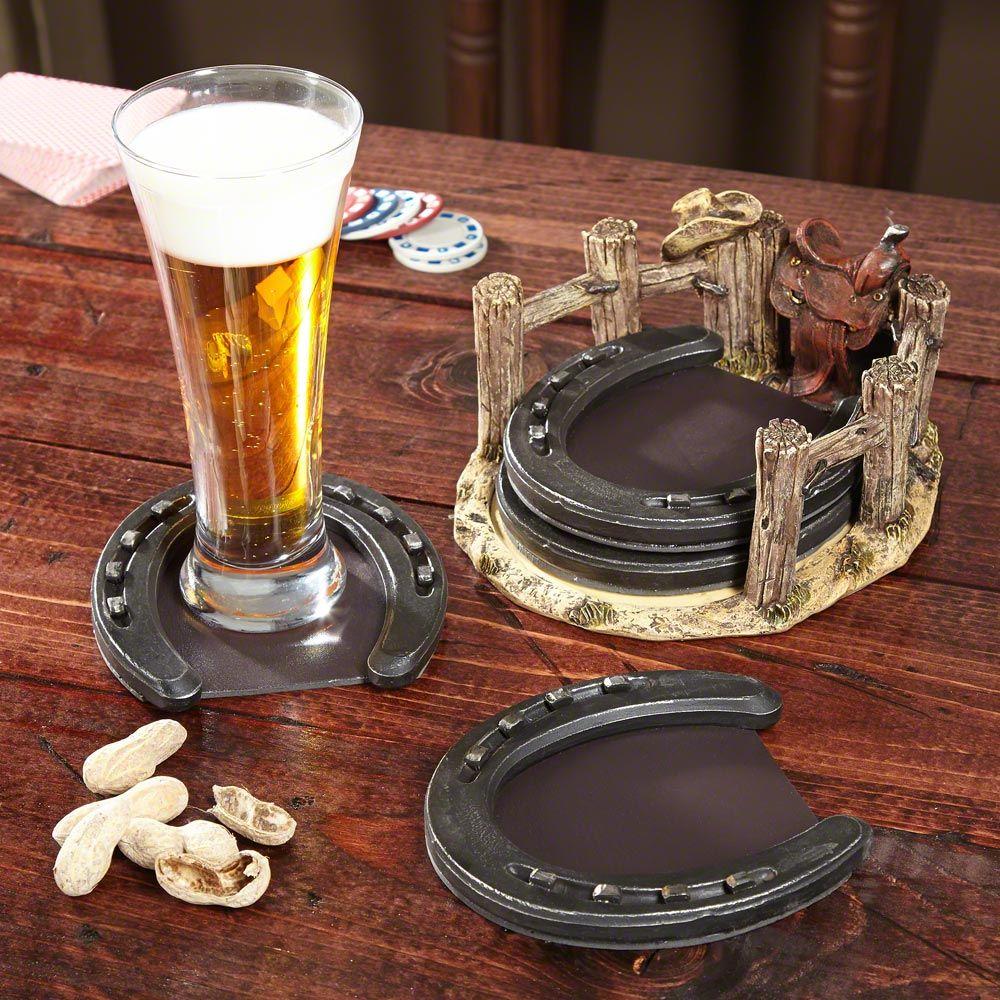 Cimarron Horseshoe Drink Coasters