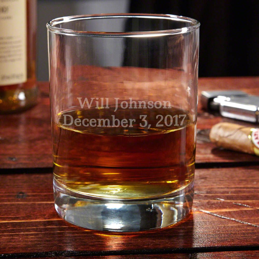 Eastham Personalized Whiskey Glass, 2 Lines