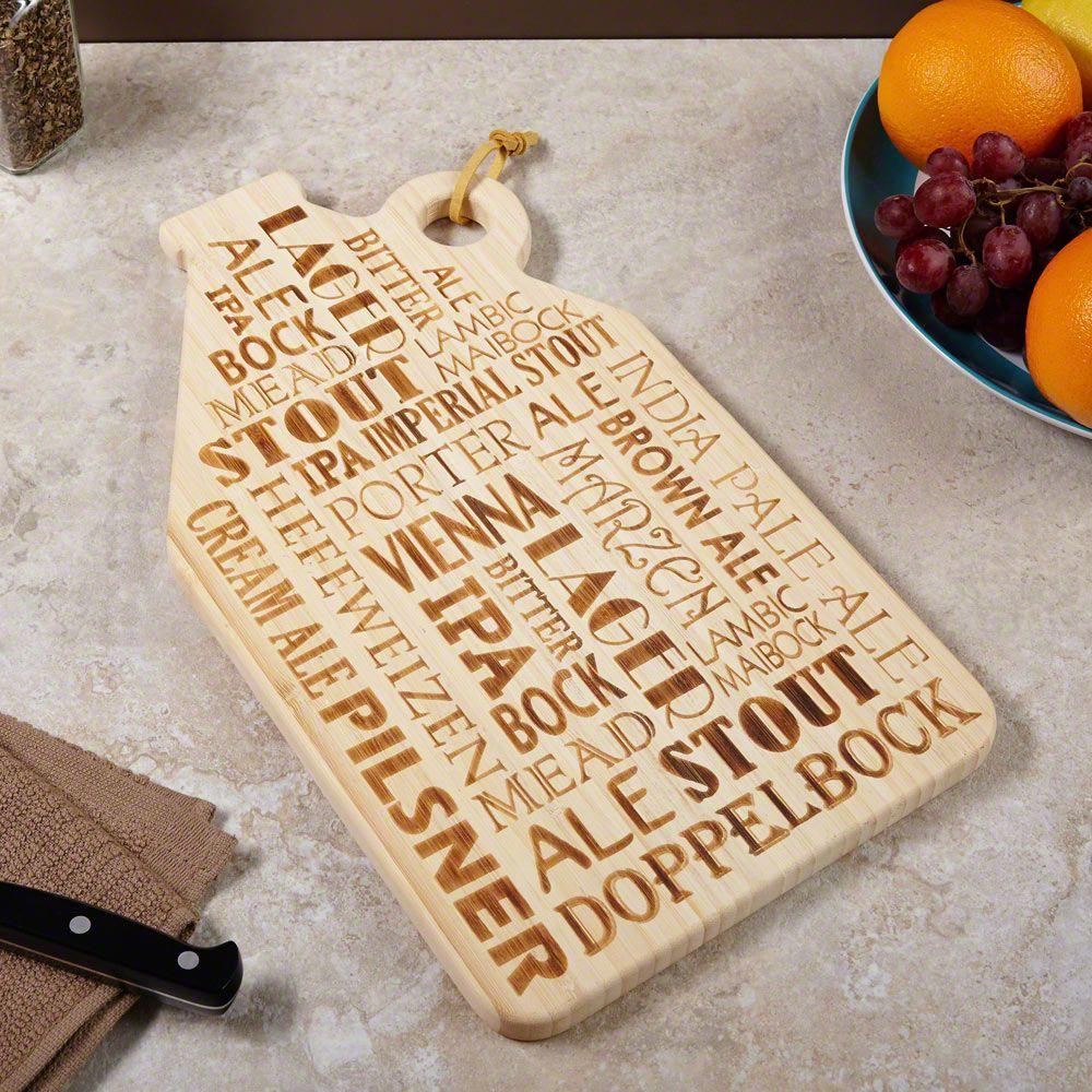 Brew Talk Engraved Cutting Board