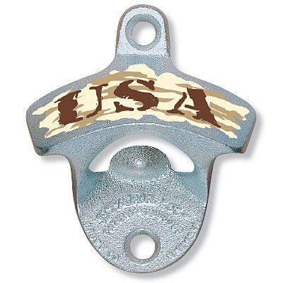 Desert Camo USA Wall Bottle Opener