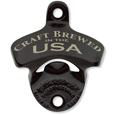 Black Craft Brewed in the USA Wall Bottle Opener