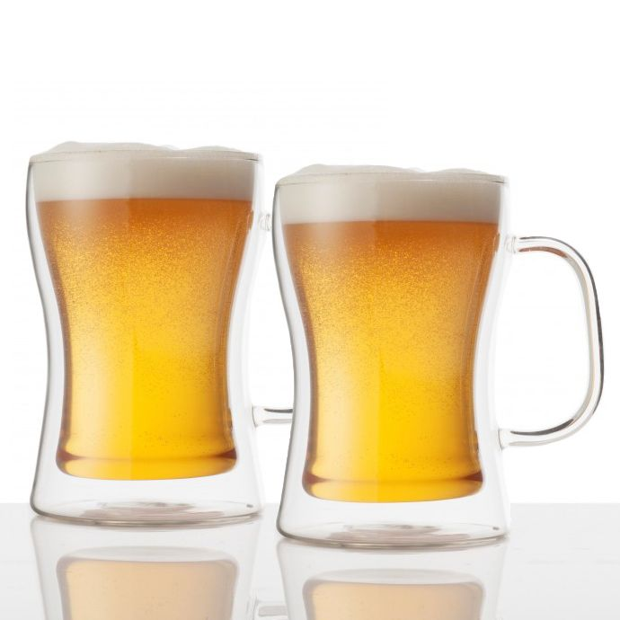 Double Insulated Beer Mugs, Set of 2