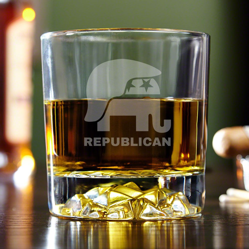 Hair of the Donald Republican Fairbanks Whiskey Glass