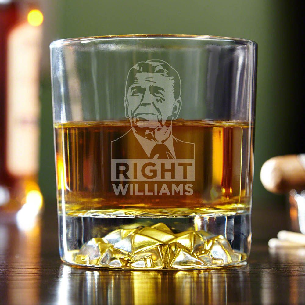 Reagan Right Personalized Whiskey Glass