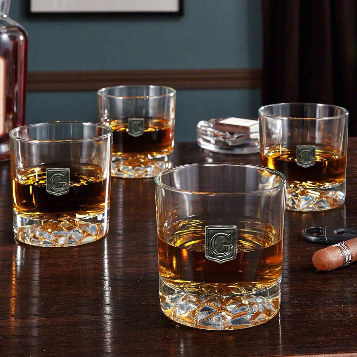 Regal Crested Fairbanks Whiskey Glasses, Set of 4