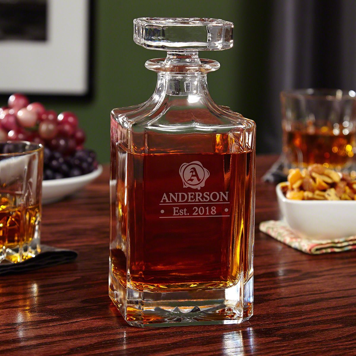 Wax Seal Personalized Whiskey Decanter