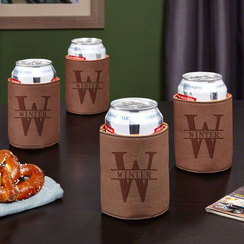 Oakmont Personalized Beer Koozies, Set of 4