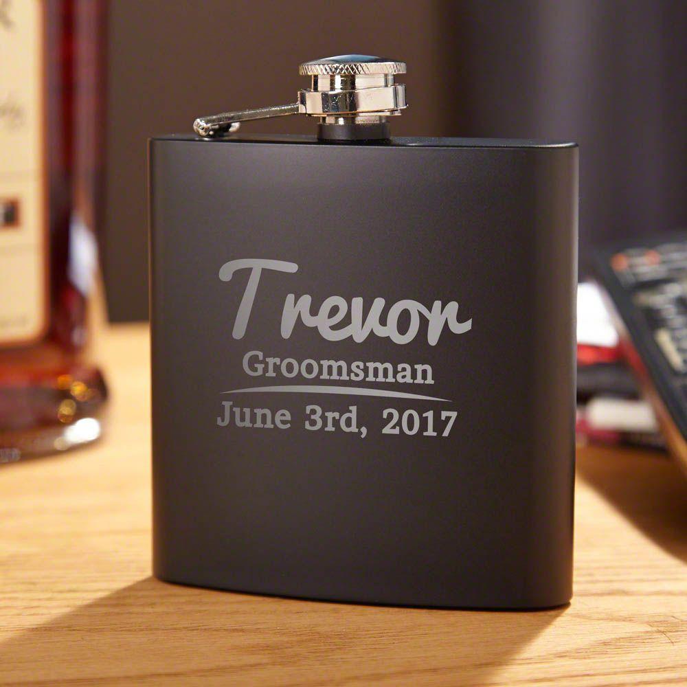 The Big Day Custom Blackout Liquor Flask
