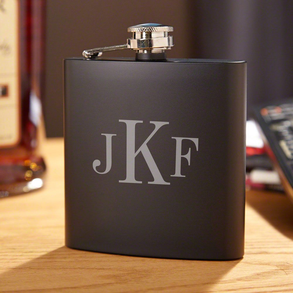 Classic Monogram Personalized Blackout Flask