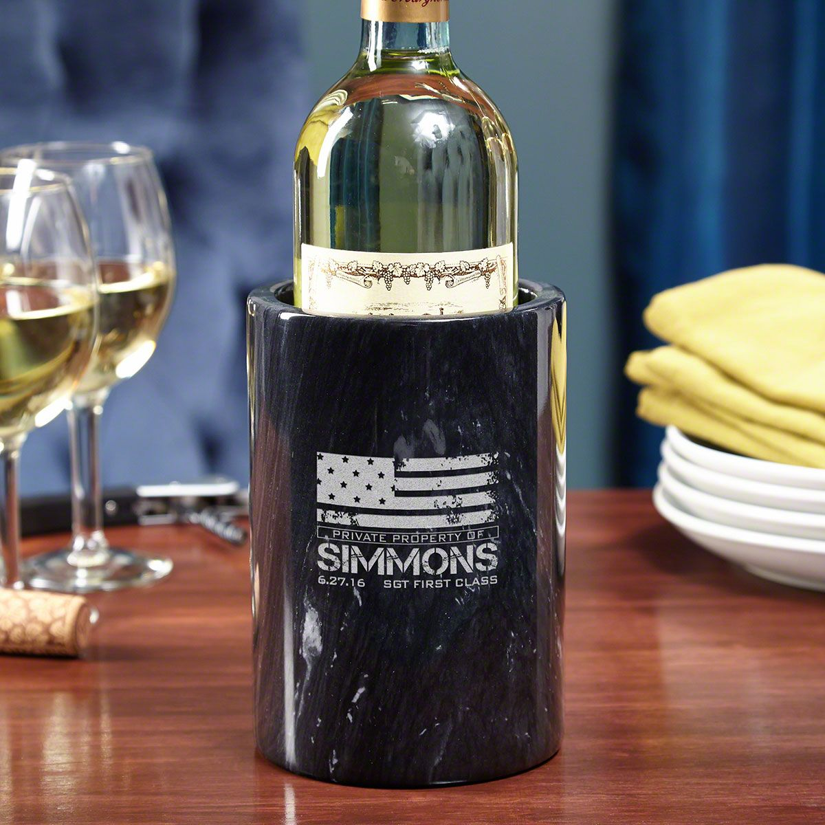 American Heroes Engraved Wine Chiller