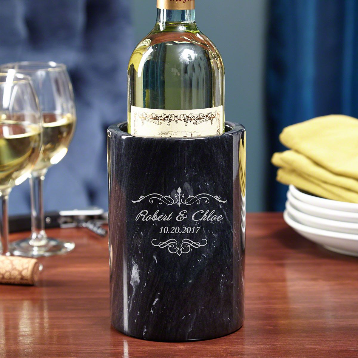 Edgewater Personalized Marble Wine Chiller