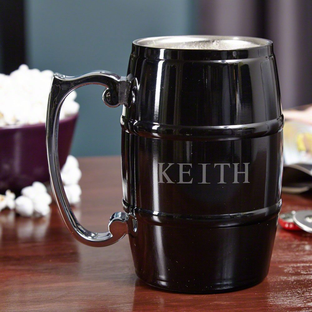 Beer Barrel Personalized Stainless Steel Mug