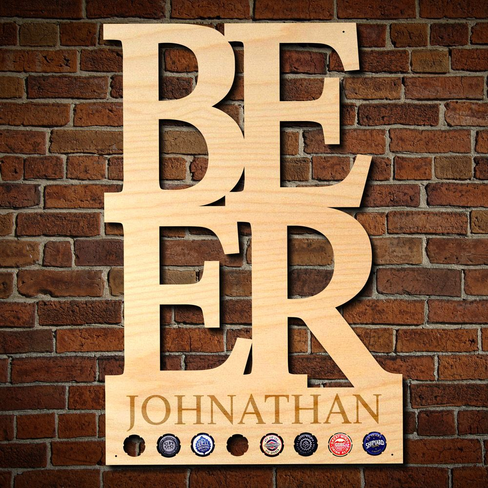 BEER Personalized Beer Cap Decor