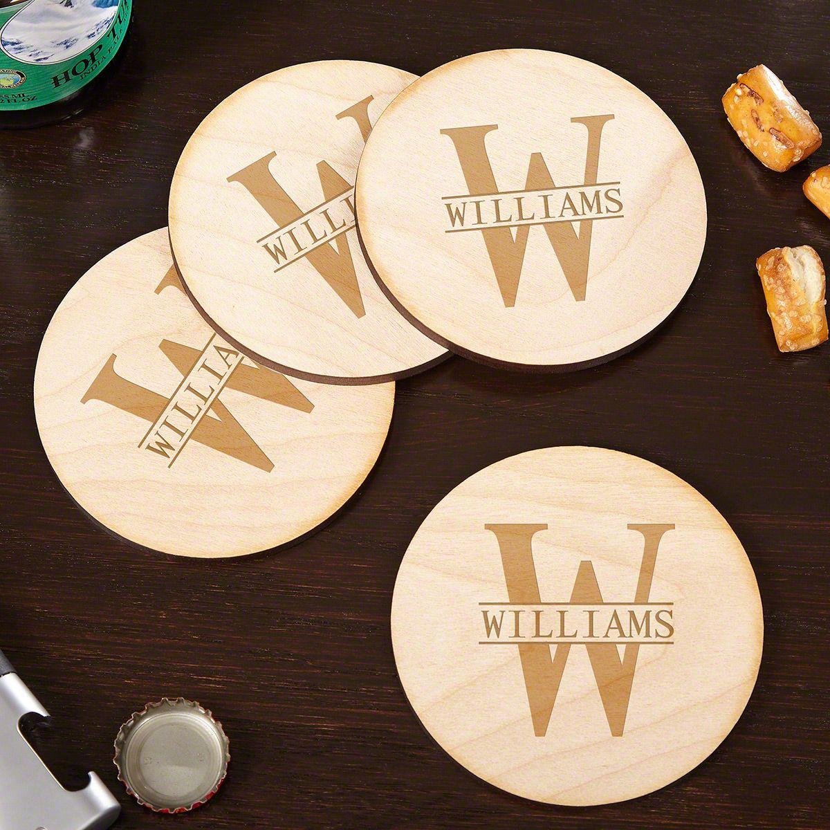 Oakmont Handcrafted Custom Wooden Drink Coasters