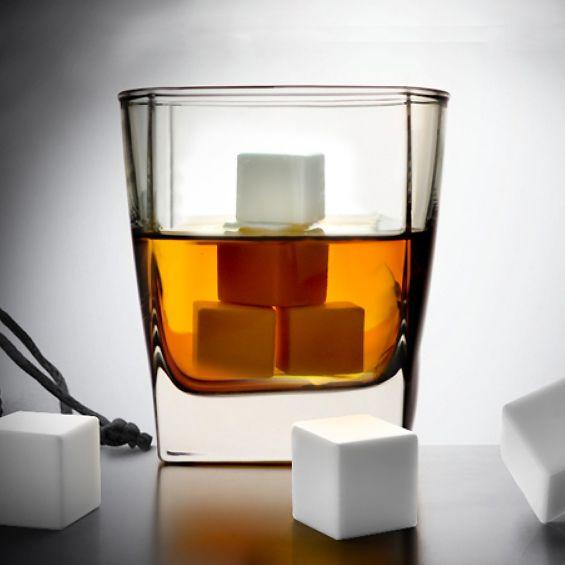 White Ice Whiskey Stones Set of 9