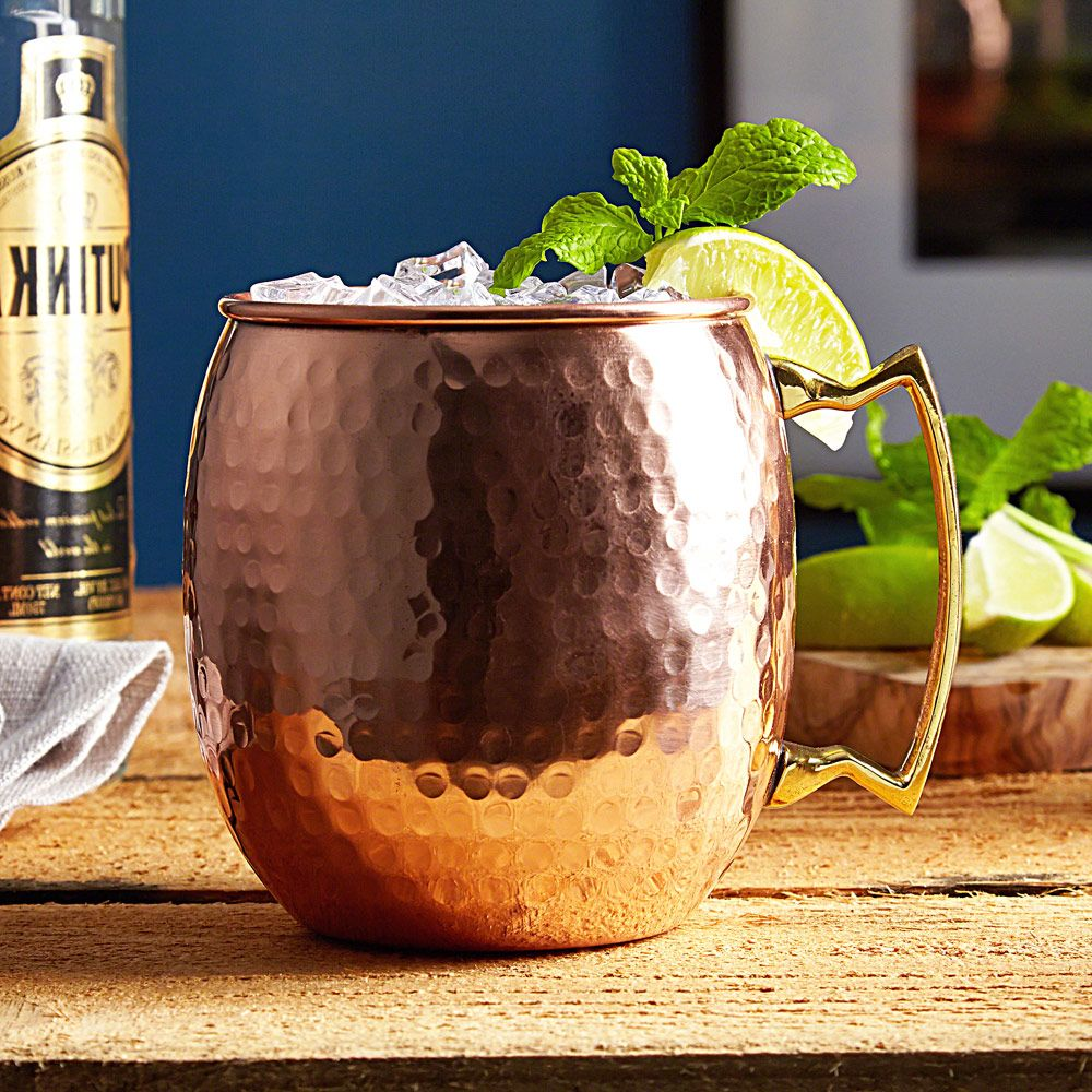 Everston Hammered Moscow Mule Mug, 24 oz