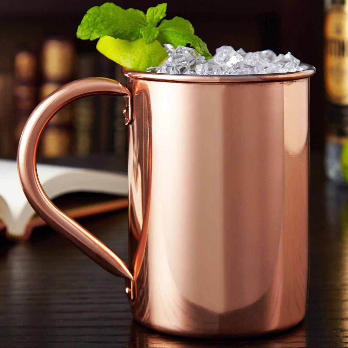 Nikolay Large Solid Copper Moscow Mule Mug,  22 oz