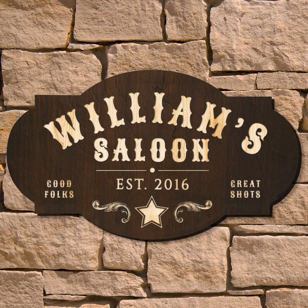 Wild West Saloon Custom Bar Sign (Signature Series)