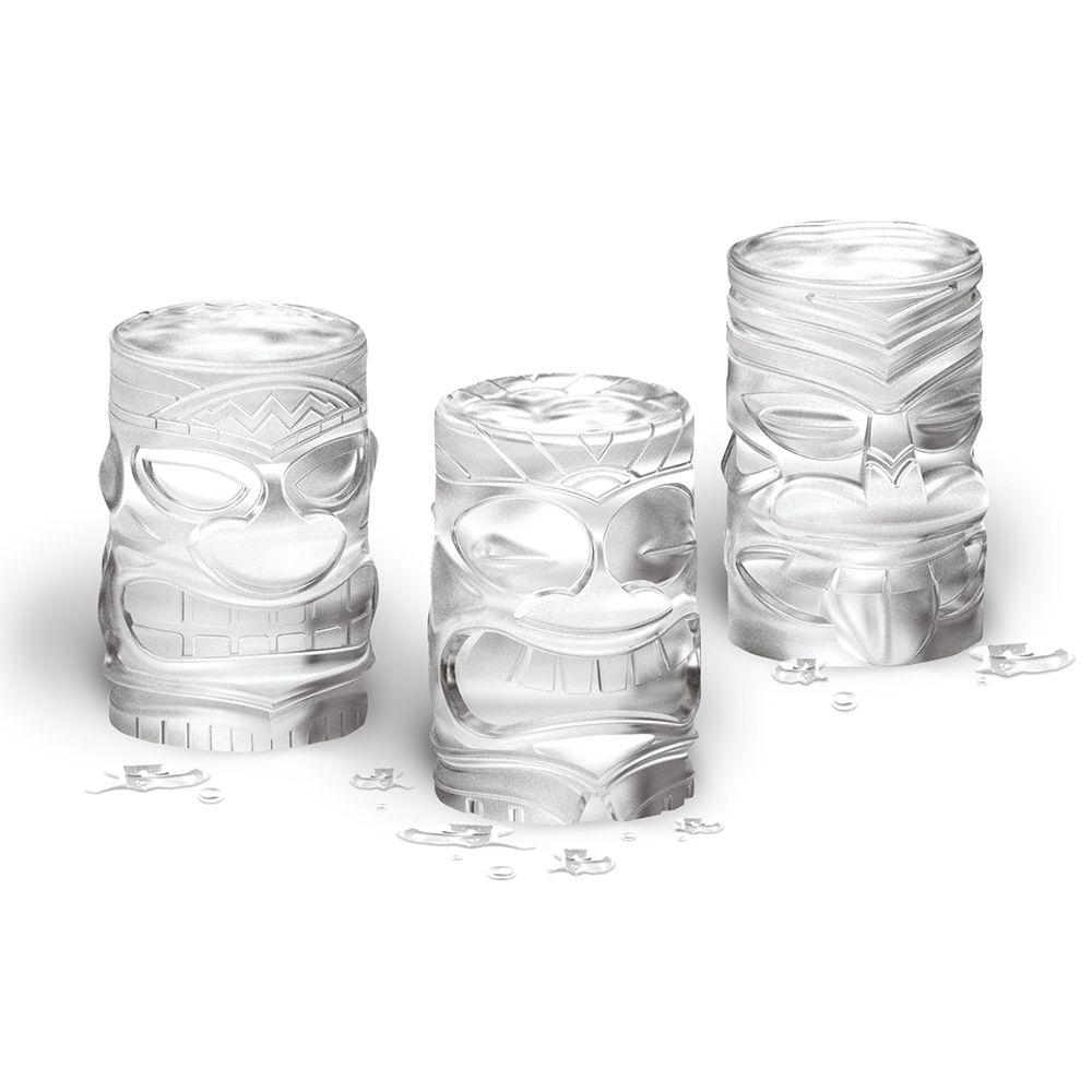 Tiki Statue Silicone Ice Molds, Set of 3