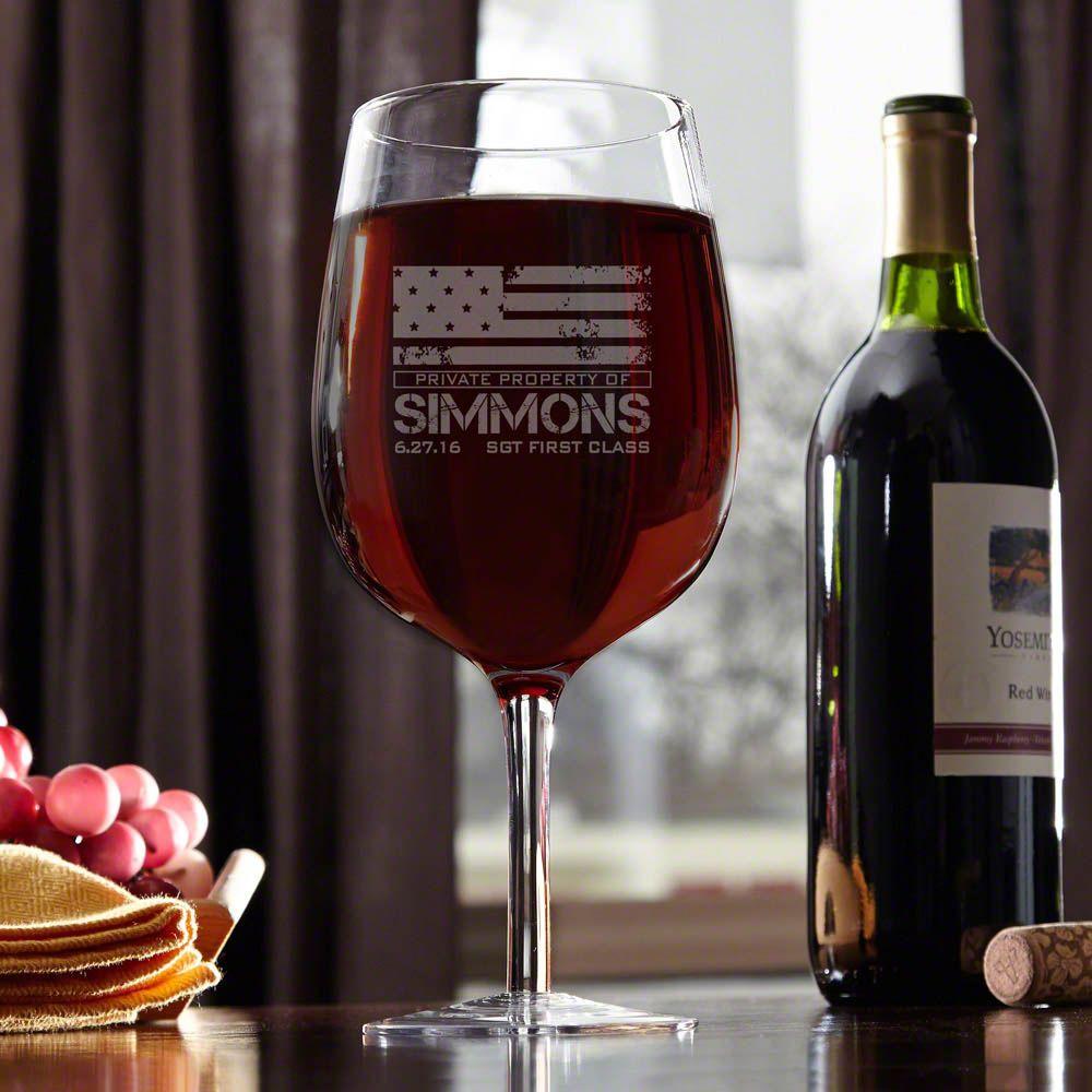 American Heroes Giant Wine Glass