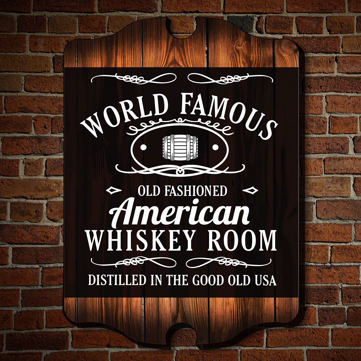 World Famous Whiskey Room Wall Art Sign