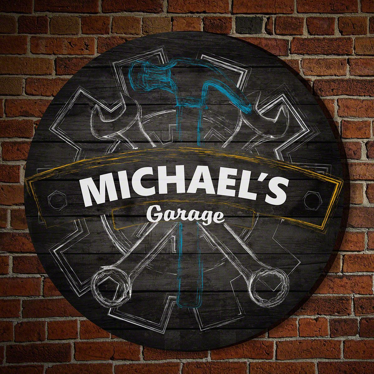 Premier Gears Personalized Wooden Sign
