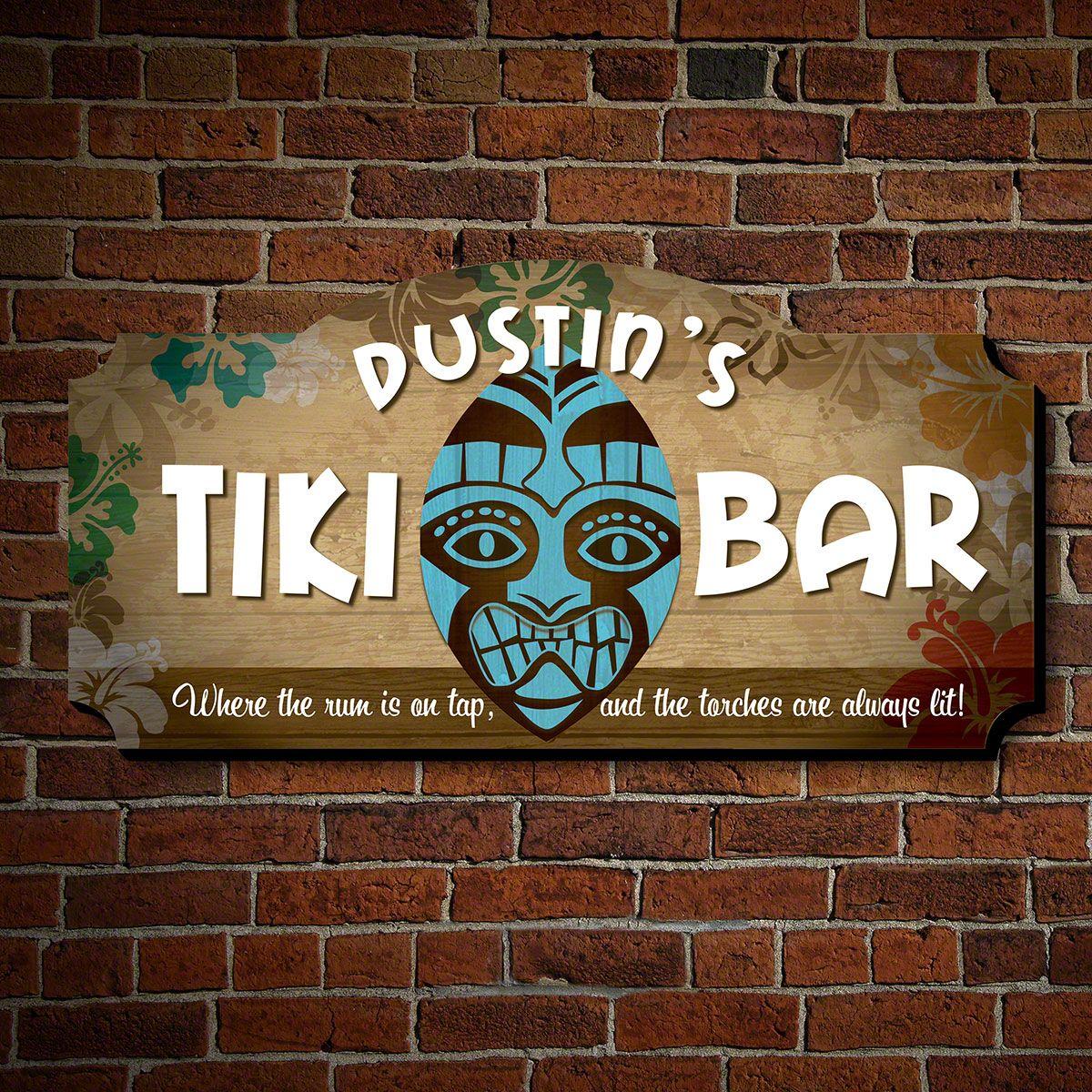 Freaky Tiki Mask Custom Sign