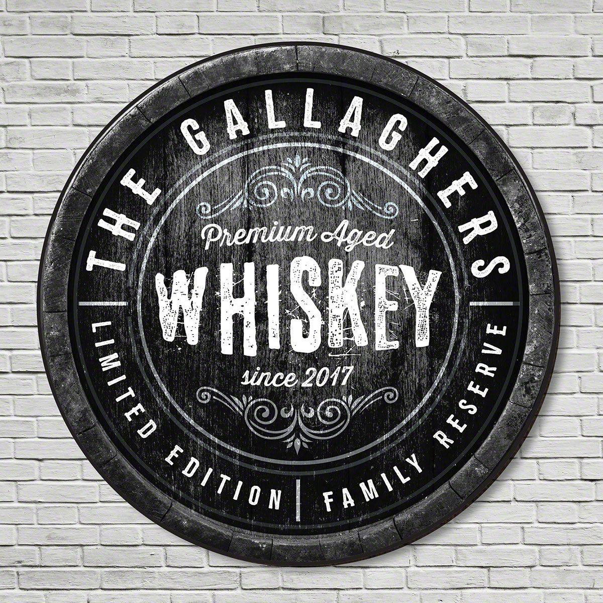 Family Reserve Custom Made Whiskey Sign
