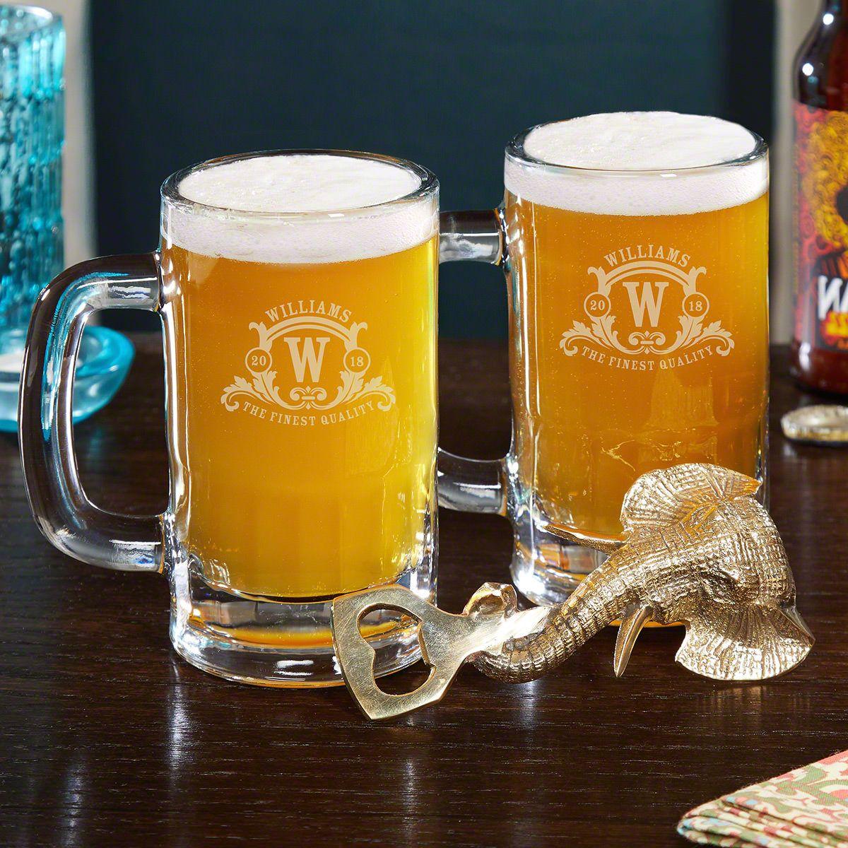 Gold Elephant Bottle Opener Mug Set Up