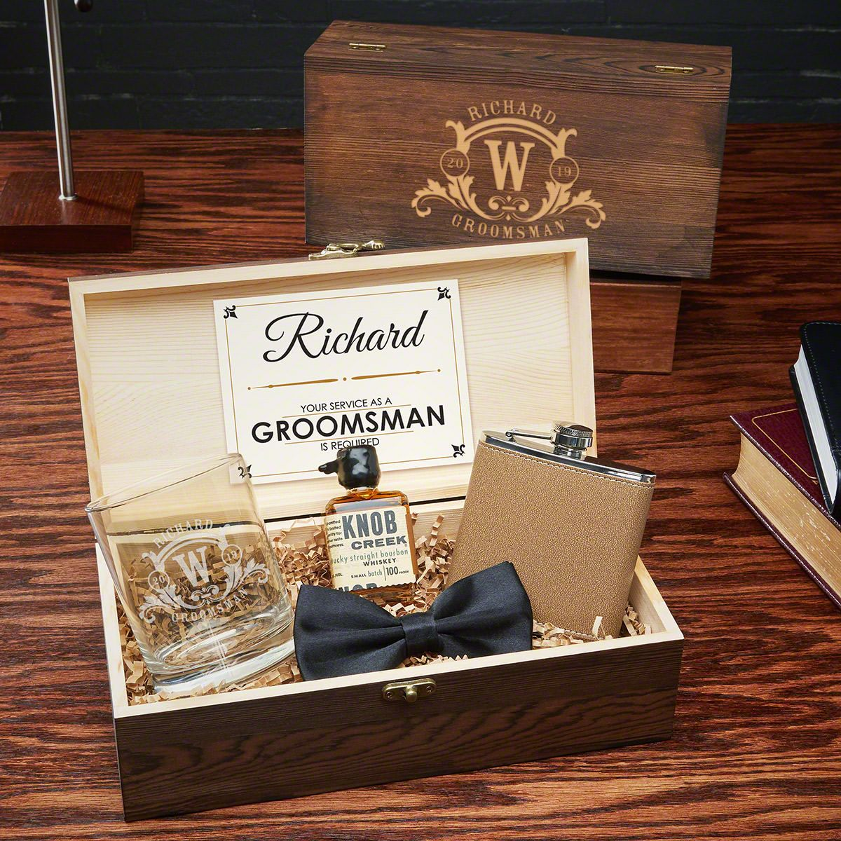 Westbrook Personalized Groomsmen and Best Man Gift Box Set