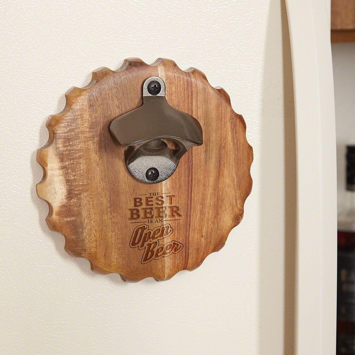 Best beer is an open beer funny magnetic bottle opener
