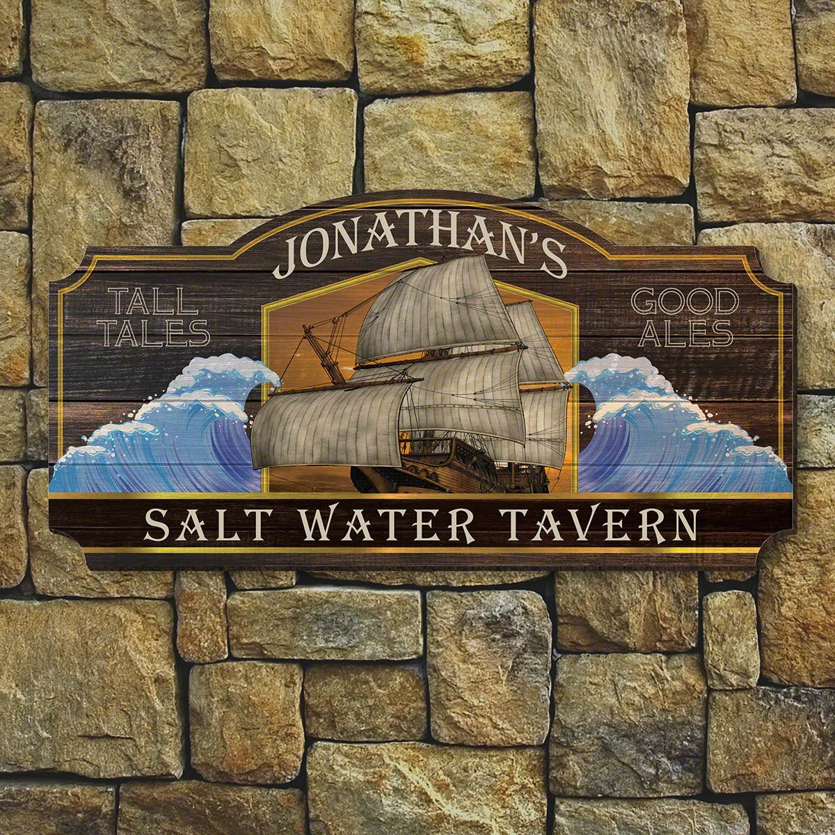 Seven Seas Personalized Bar Sign