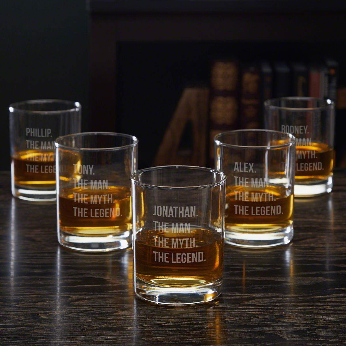 Man Myth Legend Personalized Rocks Glasses – Groomsmen Gift Ideas