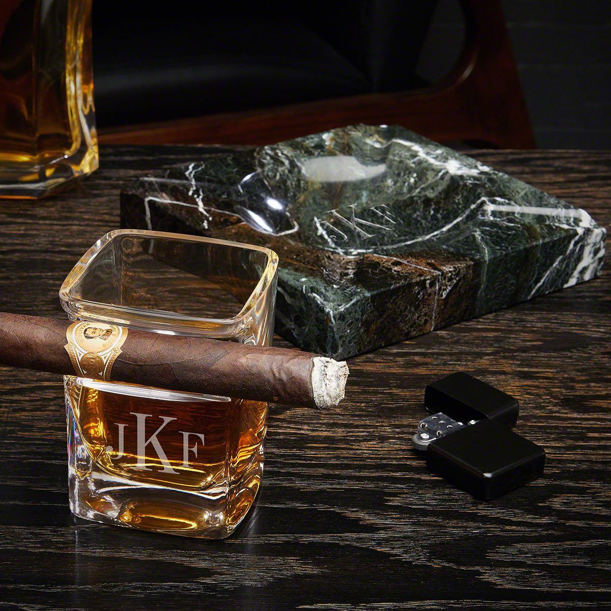 Classic Monogram Engraved Cigar Lovers Gift Set