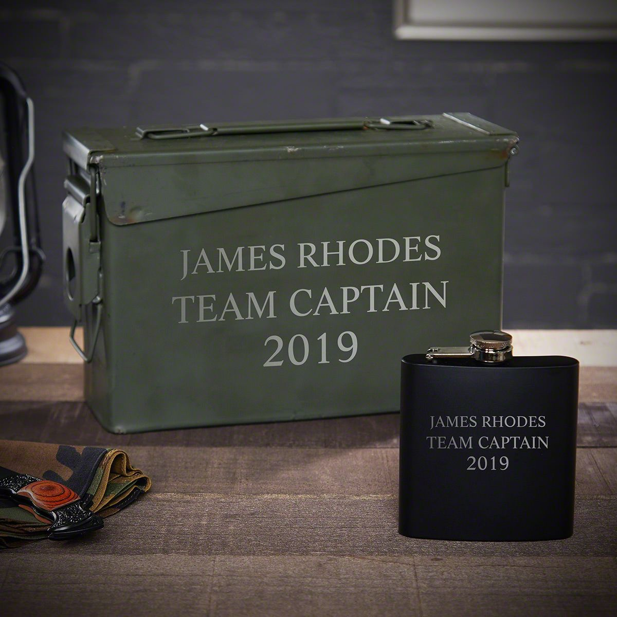 Personalized 30 Cal Ammo Can Gift Set for Men